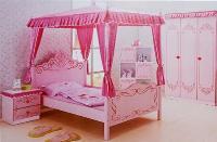 Giường ngủ kiểu công chúa điệu đà cho bé